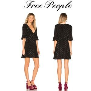 🌻NWT Free People polka dot All yours dress